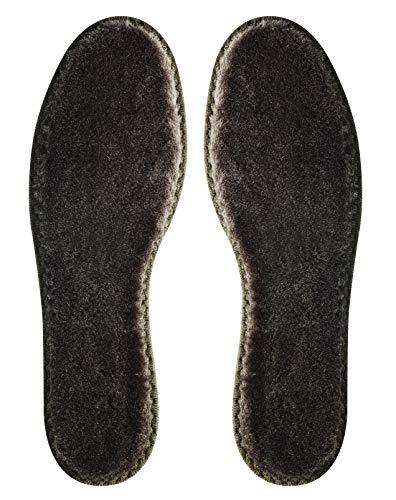 2 Paar Merino Winter Einlegesohlen, Einlage für Schuhe und Stiefel aus 100% Merinowolle (40)