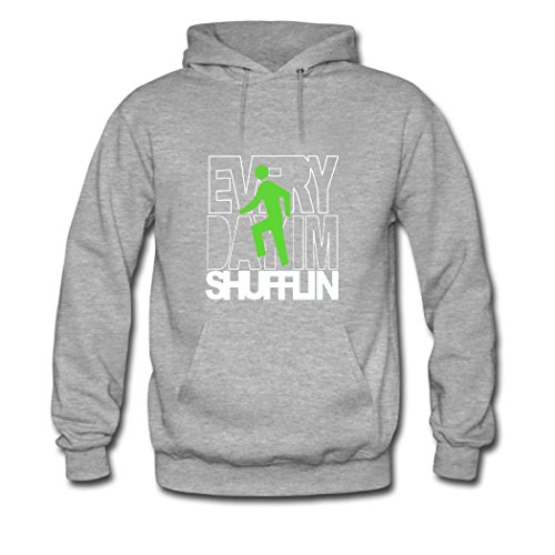 HGLee Printed Personalized Custom everyday shufflin Women's Hoodie Hooded Sweatshirt Gray