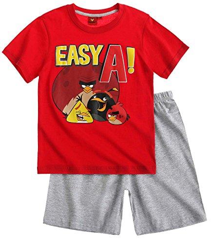 Angry Birds Ragazzi Pigiama maniche corte - rosso - 128