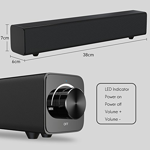 Zoom IMG-3 soundbar bluetooth portatile 20w 38cm