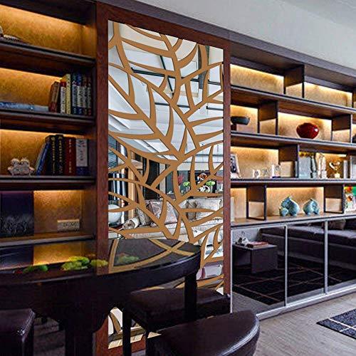 zhenfa Miroir Auto-adhésif de Plante modèle Wall Stickers Vivant Le Mur décoratif Fond d'entrée Miroir Ja stéréoscopique 3D Clico enlèvement des Stickers muraux environnementale