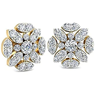 PC Jeweller The Ayanna 18KT Yellow Gold and Diamond Earring for Women