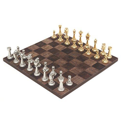 Die Messina Gold und Silber leder Italienisch schachspiel