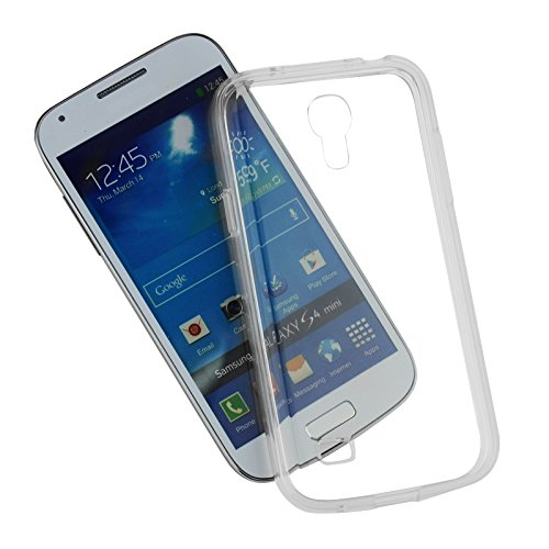 SDTEK Samsung Galaxy S4 Mini Coque Housse Silicone Etui Case Cover Transparent Crystal Clair Soft Gel TPU