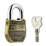 Mindy Schweres Vorhängeschloss mit Schlüssel FASHION LOOK Security Lock, A8, bronze