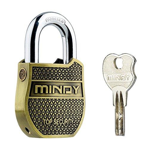 Storage Shed Kit (Mindy Heavy Duty Vorhängeschloss Home Security langlebiges Vintage Mode Schloss mit Schlüssel A8, Gold)