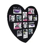 ATMOSPHERA Bilderrahmen pèle-mèle Wandtattoo Form Herz Farbe schwarz Kapazität 13Fotos