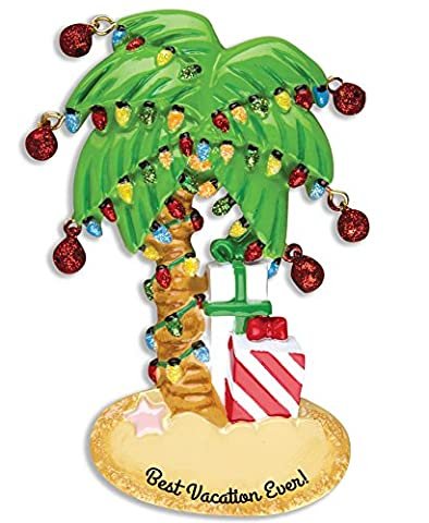 Personalisierte Weihnachtsschmuck travel-christmas Palme - WE CUSTOMIZE for you