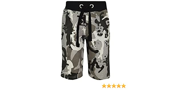 RageIT LOTMART Kids Plain /& Camouflage Multipocket Shorts Boys Army Print Cargo Combat
