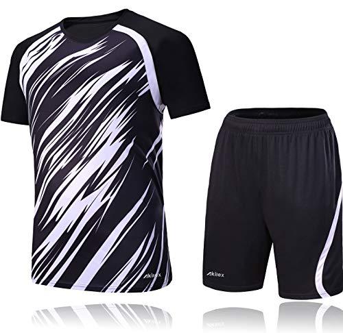 7303cce20 Akilex Football Uniform Football Shirts Football Jersey For Men Soccer  Shorts Set Football Kits Training 100
