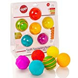 Tippi 6 Soft Sensory Play Ball Set - Baby or Toddler Toy
