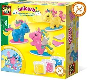 SES Creative Plastilina - Unicornios - Kits de Manualidades para niños (Glitter Modelling Clay Set, Arcilla de modelar, Chica, 3 año(s), Niños, Unicorns)