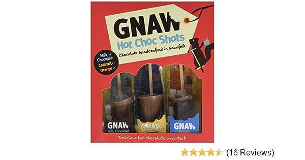Gnaw Milkcaramel And Orange Hot Choc Shot Chocolate Gift Set 150 G