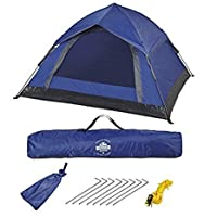 Lumaland Outdoor Waterproof Pop Up Tent 210 x 190 x 110 cm 3 Person Quick Up System fast pitch Foldable Festival Tent with sewn-in Groundsheet UV Protection Lightweight Portable 27