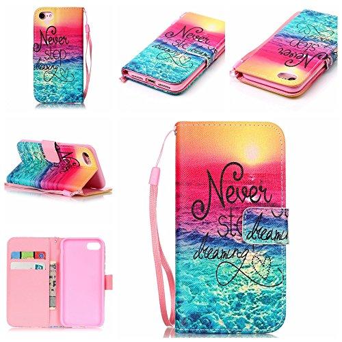 【Eine Vielzahl von Mustern HX-439】iPhone 5/5S/SE Handyhülle Case für iPhone 5/5S/SE Hülle im Bookstyle, PU Leder Flip Wallet Case Cover Schutzhülle für Apple iPhone 5/5S/SE(4.0 Zoll) Schale Handyhülle Farbe-21