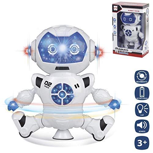 JUINSA- Robot BAILARIN 18 CM con LUZ Y Sonido, (96707)