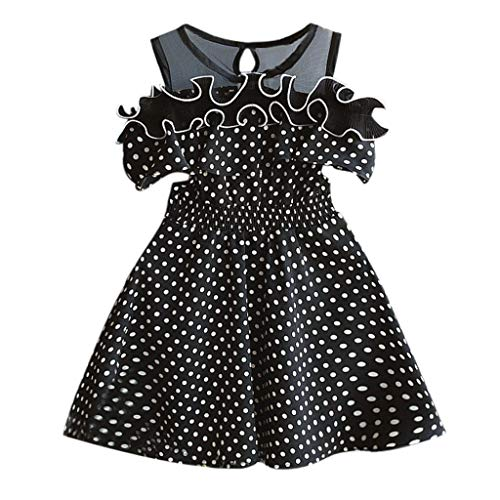 Sanahy Mode Kinder Baby Mädchen Kleid Kleid Kurzarm Festes Kleidung Baby Kleinkind Langarm Bandage Anzug Mini (0-36Monate)