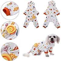Perro pijamas mascotas gato dulces mundo patrón algodón dormir ropa Ocio y duradero mascotas casa traje mono de Awhao L