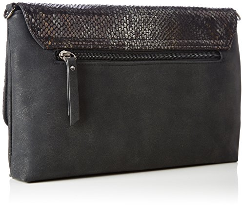 TOM TAILOR Denim Damen Mila Vip Clutch, 3 x 18 x 28 cm Schwarz (Schwarz)