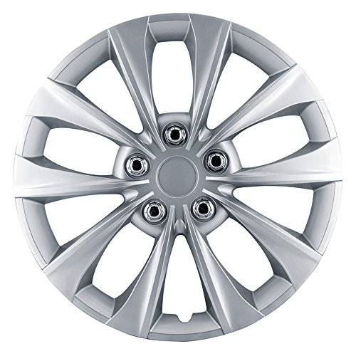 AutoStyle KT 1050-16Silver Wheel Covers, 16 cm, colore: argento