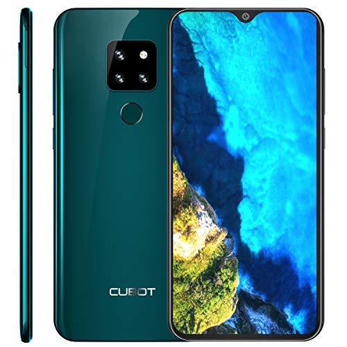 "CUBOT P30 4G Ultra Dünn Dual SIM Smartphone ohne Vertrag, 6.3"" FHD+ Display mit 4000mAh Akku, 4GB Ram+64GB Rom, 20MP+12MP+8MP + 13MP Vier Kameras, Android 9.0, Fingerabdruck+ Face ID+ Gyroskop, Grün"