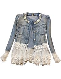 Jeansjacke mit glitzersteinen