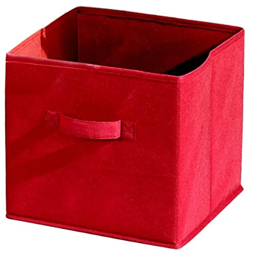 Alsapan Compo Fabric Storage Box, 28 X 27 X 27 Cm, Red