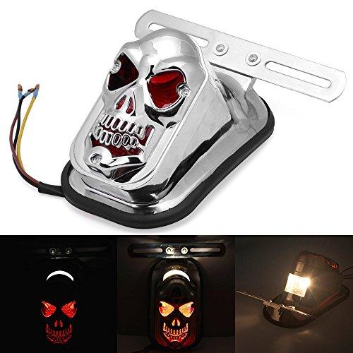 Universal LED integrado DLLL moto calavera trasera roja gire la cola de...
