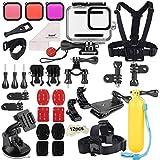 Deyard 52 en 1 Kit de Accesorios para GoPro Hero 8 Black, Funda Impermeable con 3 Filtros, Funda de Goma para Cuerpo/Cabeza/C