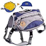 MyfatBOSS Rucksack Tragetasche für Hunde, zusammenklappbar, für Hunde und Reisen, Camping, Wandern, 2-in-1, Hundegeschirr und Wanderrucksack