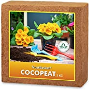 TrustBasket COCOPEAT Block - Expands to 75 Litres of Coco Peat Powder