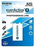 2 everActive ProfLine 9V Block Akku 320 mAh min. 300 mAh NIMH 6LR61 9 V Block