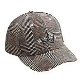 QUICKLYLY Gorra Bebe Verano Niño Niña Tartán Bordado Ajustable Sombrero de  Béisbol Suave 2-6 b322039dc76