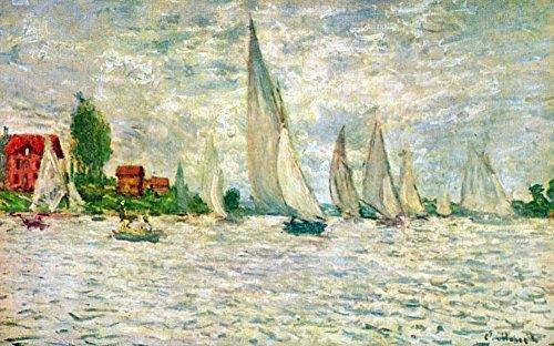 Das Museum Outlet-Segelschiffe, Regatta in Argenteuil by Monet-Leinwanddruck Online kaufen (101,6x 127cm)