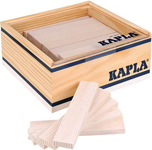 Kapla 8034 Lot de 40 Planches à Bois Blanc