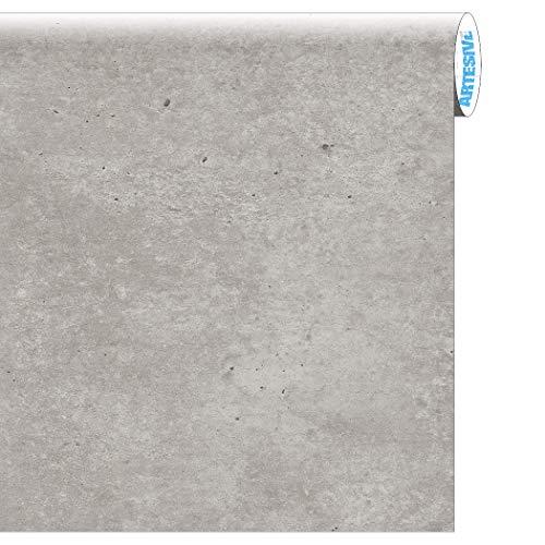 Artesive ST-012 Cemento larg. 122 cm AL METRO LINEARE - Pellicola Adesiva effetto Pietra per interni, rinnovare mobili, porte e oggetti di casa