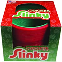POOF-Slinky 124 Plastic Holiday Original Slinky, Red and Green
