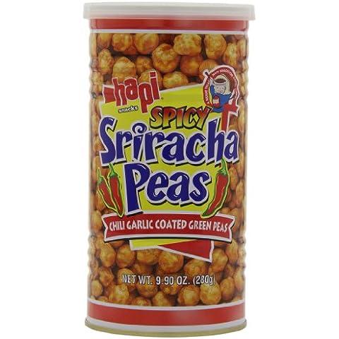 HAPI Hapi piselli Sriracha Piccante, peperoncino aglio rivestito piselli Gren, 9.9-Ounce (pack