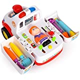 Toyshine Intellectual Ambulance Activity Toy Vehicle with Music, Sounds, and Lights
