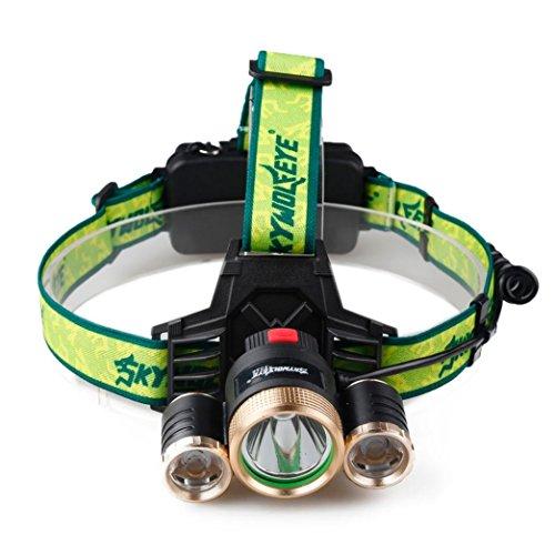 LED Stirnlampe Kopflampe Clode® 10000 Lumen LED Stirnlampe CREE XM-L 3 x T6 LED handfreie Kopflampe 18650 Licht Ladegerät Akku