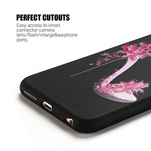 Coque iPhone 6S Plus , Etui iPhone 6 Plus TPU Case Silicone Transparente Slim Souple Étui de Protection Flexible Soft Cover avec Motif Spécial Anti Choc Ultra Mince Integrale Couverture Bumper Caoutch Talons Hauts