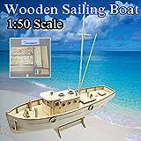 SAFETYON 1:50 Holzschiff Modelle DIY Schiffsmodell kit Boot Schiffe Kits Segelboot Holzmodell Kit Spielzeug