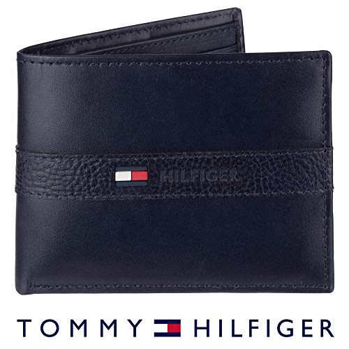 Tommy Hilfiger Leather Wallet Navy