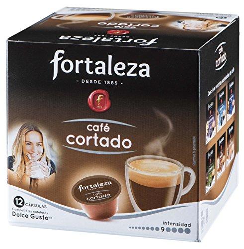 Café FORTALEZA - Cápsulas de Café Cortado Compatibles con Dolce Gus