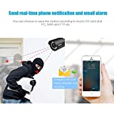 ieGeek Outdoor IP Camera,Full HD 720P IP66 Waterproof Home Security Surveillance System Night Vision,Remote View and Control, Motion Detection and Push Alerts,Up to 15m IR Night Vision,Support iOS Android Windows PC Anywhere Anytime,Black (3M Power Supply)
