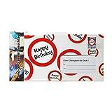 Preis am Stiel 2 x Riesen-Umschlag Happy Birthday | Geburtstag | Geldgeschenk | Geschenkidee | Umschlag | Feier | Glückwunsch | Riesenumschlag | Geldgeschenkumschlag | Moneten | Geburtstagsfeier