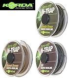 Korda N-TRAP Semi Stiff 20m - Vorfachschnur für Karpfenmontagen, Schnur für Karpfenvorfach, Vorfachmaterial für Karpf