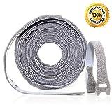 Klett Kabelbinder wiederverschließbar von Daily Items / 25 Stück á 20 x 250 mm / stark, stabil & beständig / wiederverwendbarer Klettverschluss mit Schlaufe / einfach & vielseitig