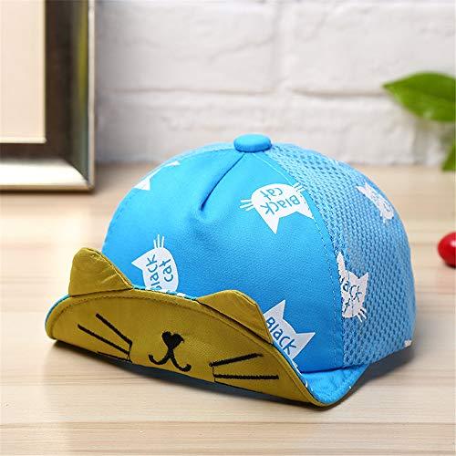 Texaner Kostüm - mlpnko Kinder Visier Baby Mütze weiche Kante Hut dünne Masche Kappe niedlichen Baby Mütze blau 48-50cm