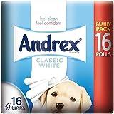 Andrex Toilette Blanche Classique Rouleaux De Papier - 240 Feuilles Par Rouleau (16)